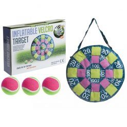 Inflatable Velcro Dartboard and Velcro Tennis Balls Game