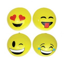 Inflatable Emoji Beach Ball - 4 Types Available - 30cm