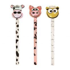 Inflatable Farm Animal Stick - Cow, Pig or Sheep - 118cm