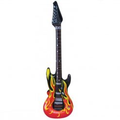 Inflatable Flame Print Guitar - 106cm