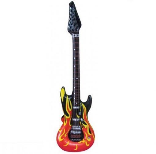 Inflatable Flame Print Guitar - 106cm