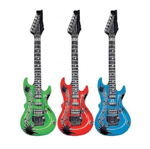 Inflatable Guitar 100cm - Available in 3 Colours