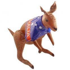 Inflatable Kangaroo with Australian Flag - 70cm