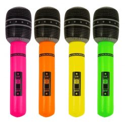 Inflatable Small Neon Microphone - 25cm