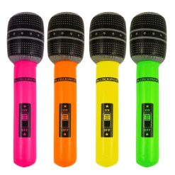Inflatable Neon Microphone - 66cm