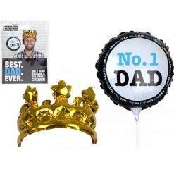 Inflatable No. 1 Dad Balloon and Crown
