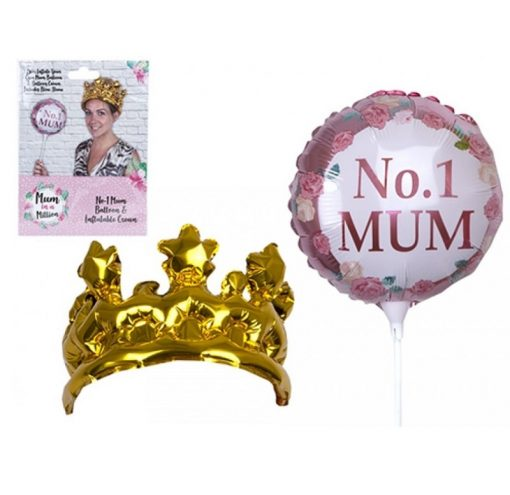 Inflatable No. 1 Mum Balloon and Crown