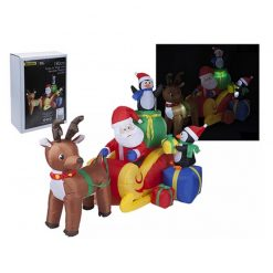 Inflatable Santa, Reindeer and Sleigh - Giant Christmas Decoration