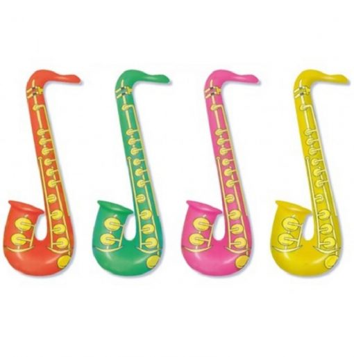 Inflatable Bright Colour Saxophone - 4 Colours Available - 55cm