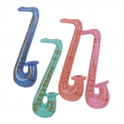 Inflatable Saxophone - Pink, Blue, Purple or Green - 81cm