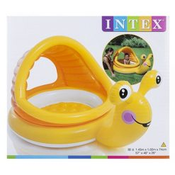 Inflatable Snail Shaded Baby Pool - 145 x 102 x 74cm