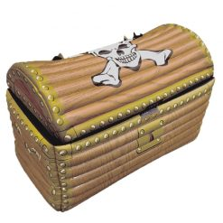 Inflatable Pirate Treasure Chest - 58 x 31 x 52cm