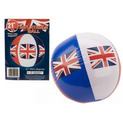 Inflatable Union Jack Beach Ball - 45cm