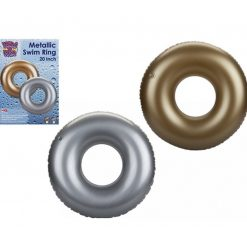 Inflatable Swim Ring - Gold or Silver - 50cm
