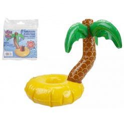 Inflatable Palm Tree Pool Drinks Holder - 33 x 33 x 24cm