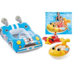 Inflatable Kids Pool Floats - Mix of 3 - Car, Fish, Plane