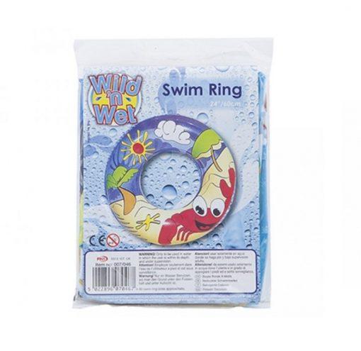 Beach Themed Kids Swim Ring Inflatable - 60cm