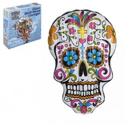 Skull Head Day of the Dead Pool Lounger - 180 x 130cm