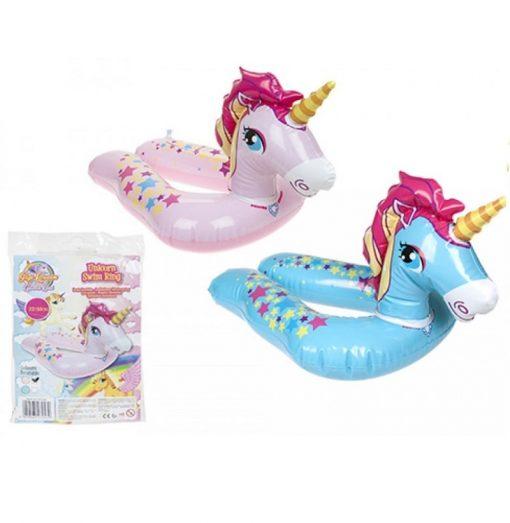 Inflatable Unicorn Split Ring Swim Ring - 2 Colours - 55cm