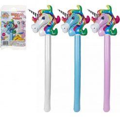 Inflatable Unicorn Stick - 3 Colours Available - 105cm